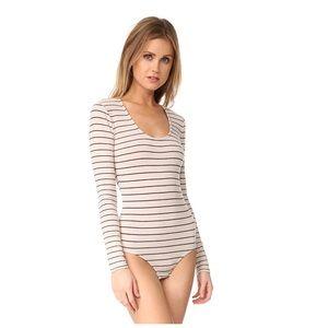 Madewell Stevie Striped Long Sleeve Bodysuit